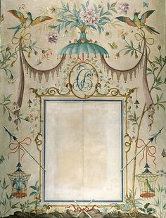 thefoodogatemyhomework:  Panel painted by renowned English decorative artist Rex Whistler in 1932, for over the mantle in the Chinese Bedroom at 12 North Audley Street, Mayfair, London.