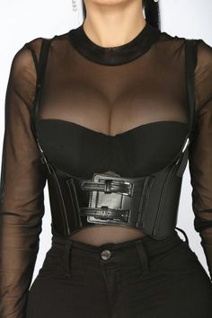 Available In Gold And GunmetalShoulder Strap CorsetBuckle DetailVelcro ClosureBuckle: Alloy metalBelt: Polyurethane Edgy Outfits, Grunge Outfits, Cute Casual Outfits, Egirl Fashion, Fashion Outfits, Womens Fashion, Fashion Design, Pastel Outfit, Aesthetic Grunge Outfit