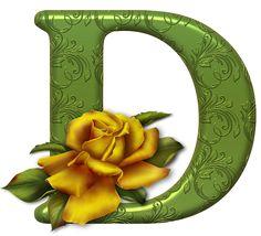 alphabets fleurs 1 - Page 48 Alphabet Letters Design, Printable Alphabet Letters, Cute Alphabet, Letter Symbols, Alphabet Art, Monogram Alphabet, Alphabet And Numbers, Lettering Design, Hand Lettering