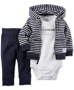 Carter's Baby Boys' 3-Piece Hoodie, Bodysuit & Pants Set - Baby Boy (0-24 months) - Kids & Baby - Macy's