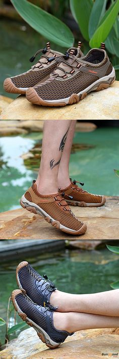 US$32.66 + Free shipping. Mens Shoes, Outdoor Shoes, Breathable Shoes, Athletic Shoes, Sneakers, Elastic Shoes, Slip-on Sneakers. Color: Khaki, Brown, Gray.