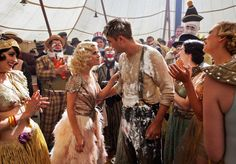 Reese Witherspoon and Robert Pattinson in Water for Elephants.