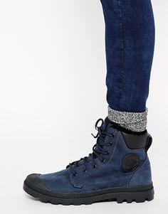 Enlarge Palladium Pampa Cuff Waterproof Nordic Blue Boots Palladium Boots  Women 3d36dd4db