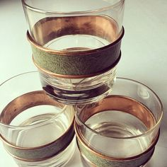 Coppercraft Guild Rock Glasses 1970 by CarsonCottageCollect