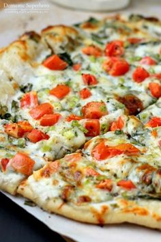 Spinach & Tomato Ranch Pizza