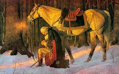 George Washington Valley Forge  one of my favorite paintings - prayeratvalleyforge.com