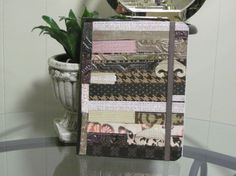 Pink Paper Piecing Altered Composition Notebook by Ratchetnous123