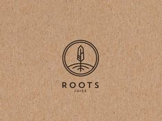 Roots juice bar logo by > Revive Your Design - Logo - Obst Graphisches Design, Design Logo, Branding Design, Logo Design Simple, Corporate Design, Design Trends, Juice Logo, Juice Branding, Bar Logo