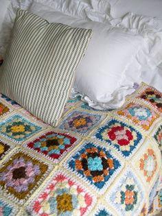 Vintage crochet blanket www.lavenderhousevintage.co.uk #bedroom#vintage#crochet#home#interiors#