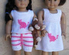 ANGIE'S PARTY Dolls Knitting pattern von knittingfordolls auf Etsy