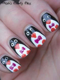 Cute Penguin Nail Art whit 3D Nail Art Design