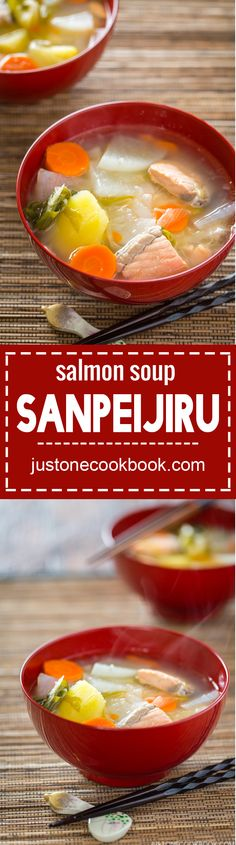 Sanpeijiru (Salmon Soup)   Easy Japanese Recipes at JustOneCookbook.com
