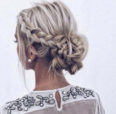Hairstyles Women 33 Gorgeous Updo Braided Hairstyles for Any Occasion; Braid styles for long or medium length hair; Easy hairstyles for women. - Hairstyles Women 33 Gorgeous Updo Braided Hairstyles for Any - Braids For Medium Length Hair, Up Dos For Medium Hair, Medium Hair Styles, Short Hair Styles, Natural Hair Styles, Wavy Hair, Braids For Thin Hair, Thick Hair, Braids For Prom