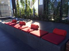 Red Cushions and throws