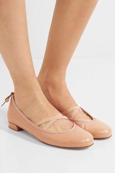 Stuart Weitzman - Bolshoi Leather Ballet Flats - Beige - IT35.5