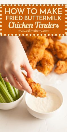 How To Make Fried Buttermilk Chicken Tenders: Chicken Fingers at home are so easy, and way better than fast food. In 30 minutes you can have this quick, easy, crunchy and tasty chicken recipe on the table. via @callmebettyblog