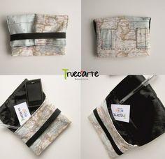 Riñonera mapa mundi hecha a mano / Fanny Pack map mundi handmade