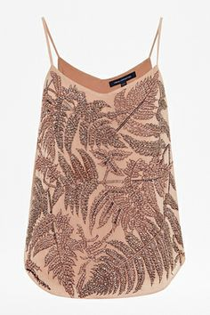 French Connection Forest Fern Strappy Embellished Top, $198, available at French Connection.