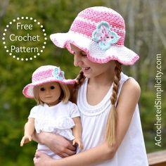 Free Crochet Pattern - Kids Linen Stitch Sunhat - A Crocheted Simplicity - http://www.acrochetedsimplicity.com/free-crochet-pattern-kids-linen-stitch-sunhat/