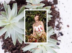 Stories Collective / Flower Market / Photography Vanessa Diskin / Styling Gabriela Splendore & Mariana Lourenço / Make up & Hair Bruno Cardoso / Model Maria Golob at Joy / Design Lily Dunlop #fashion #editorial #plants