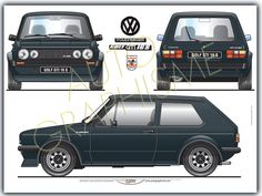 Volkswagen Golf Mk1, Vw Mk1, S Car, Rally Car, Automobile, Wooden Toy Cars, Bmw 2002, Car Illustration, Cars And Motorcycles