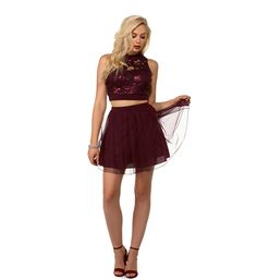 FINAL SALE- Pam Burgundy Sequin Homecoming Dress. Final SaleHomecoming  DressesBurgundySequinsDebutante ... 88f461d12962