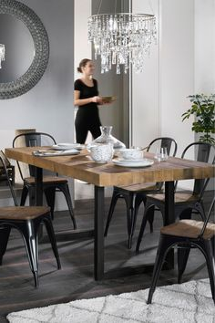 Buy Brooklyn Extending Dining Table from the Next UK online shop Kitchen Table Chairs, Extendable Dining Table, Dining Table Chairs, Round Dining Table, Dining Room Furniture, Room Chairs, Dining Area, Dining Room Design, Furniture Collection