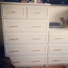 Diy Maim Ikea Dresser Hack Wood Strips Painted White