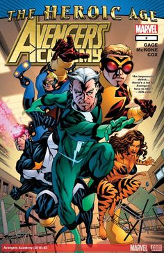 AVENGERS ACADEMY (2010) #2  Published: July 14, 2010  Added to Marvel Unlimited: May 27, 2011  Writer: Christos Gage   Penciler: Mike McKone   Cover Artist: Mike McKone   Hank Pym, Quicksilver, Tigra, Justice and Speedball are here to mentor the next generation of Earth's Mightiest Heroes...but is one of the students hot for teacher? Plus: Get a glimpse inside the
