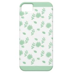 Green Leaves iPhone 5 Case ..... This design has green leaves with a mint green border .... http://www.zazzle.com/green_leaves-179680549145198410?rf=238631258595245556