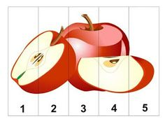 Apple Activities, Autumn Activities, Math Activities, Counting Puzzles, Maths Puzzles, Preschool Printables, Preschool Math, Math For Kids, Crafts For Kids