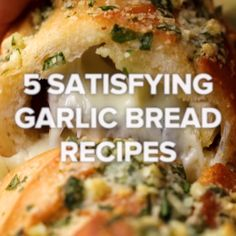 5 Recipes For Garlic Bread Lovers 5 Recipes For Garlic Bread Lovers The post 5 Recipes For Garlic Bread Lovers appeared first on Woman Casual - Food and drink Tasty Videos, Recipe Videos, Appetizer Recipes, Recipes Dinner, Tasty Breakfast Recipes, Meat Appetizers, Breakfast Pizza, Party Recipes, I Love Food