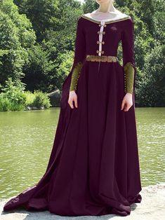 medieval Vintage Cotton Dresses - - Source by willowephoenyx Medieval Dress, Medieval Clothing, Medieval Girl, Medieval Costume, Old Dresses, Elegant Dresses, Cotton Dresses, Sexy Dresses, Backless Dresses