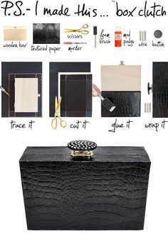 Umm, this DIY clutch using textured paper would be perfect! Just need to find a wooden box!