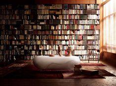 Bathtub reading.