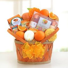 Citrus Scented Womens Spa Gift Basket | Womens Citrus Gift Basket for Her . $89.95