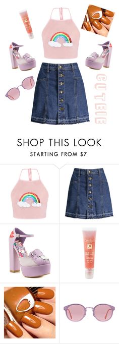 """PAY ATTENTION TO THE SKIRT😍😍"" by myersisland ❤ liked on Polyvore featuring Iron Fist, Lancôme, RetroSuperFuture, men's fashion and menswear"