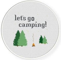 (10) Name: 'Embroidery : Let's Go Camping Cross Stitch Pattern
