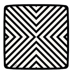 B&W CHEVRON Salad Plate, by Caspari