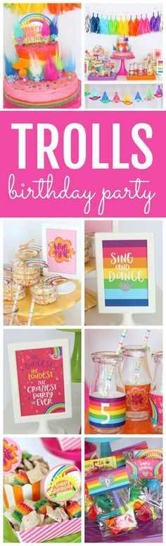 Magical Trolls Birthday Party Magical Trolls Birthday Party featured on Pretty My Party The post Magical Trolls Birthday Party appeared first on Toddlers ideas. Birthday Party Design, Trolls Birthday Party, Troll Party, 4th Birthday Parties, Birthday Party Decorations, Birthday Ideas, Theme Parties, Party Favors, Third Birthday