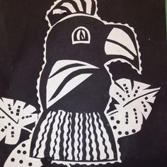 Black and white mola art project