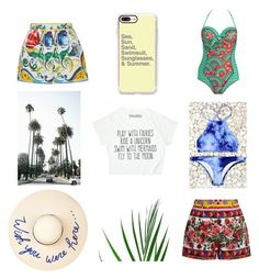"""Summer Goals"" by gypsie-moth ❤ liked on Polyvore featuring Paolita, Eugenia Kim, Casetify and Dolce&Gabbana"