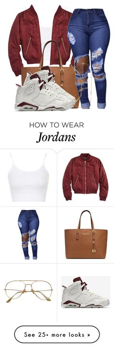 """i want you all to my self i swear//Pnb Rock"" by bestdressed101 on Polyvore featuring Topshop, MICHAEL Michael Kors and NIKE"