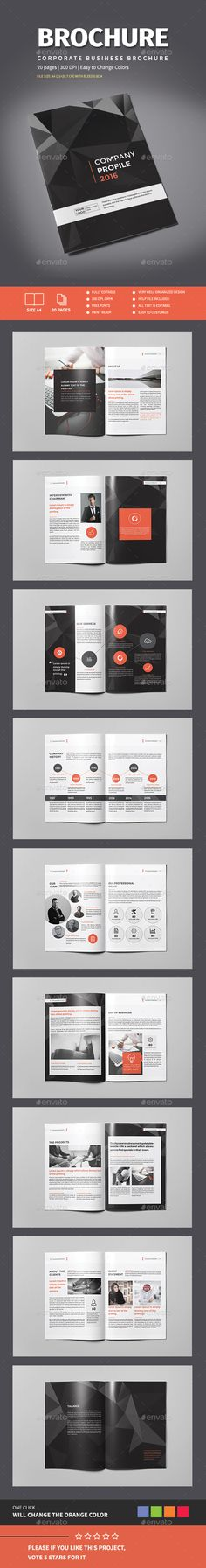 The Company Brochure Template InDesign INDD. Download here: http://graphicriver.net/item/the-company-brochure/14871180?ref=ksioks
