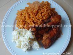 Ghanaian Food: Jollof Rice with Chicken