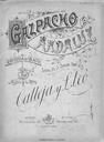 Gazpacho andaluz. N. 3, Son los palillos un instrumento [Música notada] : zarzuela en un acto / 1 De Carlos Arniches.