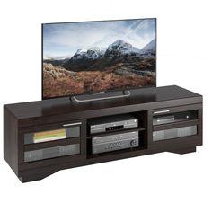 e9161dc2c6 Granville Wood Veneer TV Bench Mocha Black 66 - Sonax