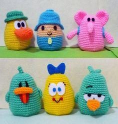 Crochet Pocoyo & Friends Pato Pocoyo Elli Baby by DarmianiDesign, $69.00