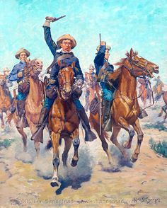 SCHREYVOGEL_Charles_Cavalry_Charge_1905_Wadsworth_Athenaeum_source_Sandstead_d2h_.jpg (802×1000)