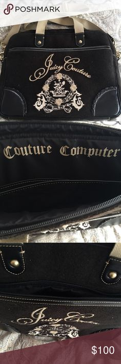 100% authentic Juicy Couture laptop carrier 100% authentic juicy couture laptop carrier. Fits all size laptops, Chargers, and electricity accessory. Great for travelers in business, school etc. new without tags. Was purchased at Lord and Taylor 3 years ago. Juicy Couture Bags Laptop Bags